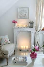 Decorative Fireplace Mantel Ornaments Pillar Candles White Mantelpiece  Ornaments