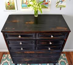furniture painting and distressing furniture marvelous helen nichole designs dresser in pitch black milk paint pic