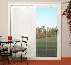 sliding patio doors with built in blinds lowes