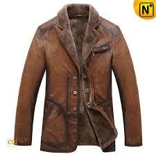 fur lined mens leather jacket cw819064 fur lined leather coats for women designer warm men s brown fur lined long leather coat