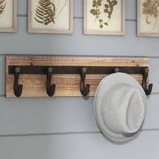 Wooden Coat Rack Wall Mounted Shelf Wall Mounted Coat Racks Wall Hangers You'll Love Wayfair 90