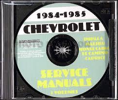 1985 caballero el camino monte carlo wiring diagram original 1984 1985 chevrolet shop manuals cd caprice impala monte carlo el camino caballero