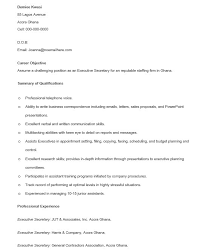 Secretary Resume Simple 28 Free Executive Secretary Resume Samples Sample Resumes