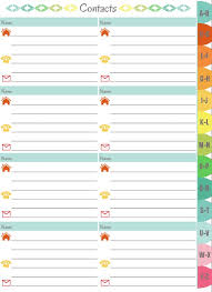 Printable Telephone List Template Download Them Or Print