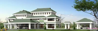 luxury house plans with photos in kerala interior design courtyard porte cochere