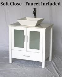 white 30 inch bathroom vanity. 30 Inch White Bathroom Vanity Square Porcelain Vessel Style (30\