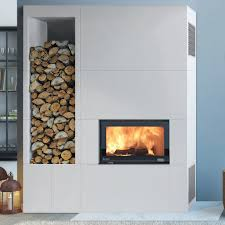 Nordpeis Panama Surround, complete with Nordpeis Q-23FL Wood Burning Insert  Fire