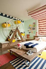 ... Cheerful Interior Design Ideas For Kids Room Themes : Enchanting Red  Stripes Window Valance In Kids ...