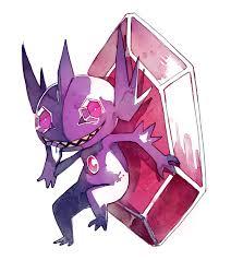 BLUE, I really love mega sableye, its design could... | Sableye pokemon,  Cute pikachu, Pokemon