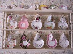 Tea Cup And Saucer Display Stand teacup display shelf this cute display shelf was designed and 18