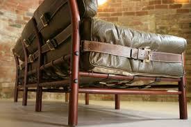 vintage leather couch. Original-swedish-arne-norell-safari-vintage-leather-sofa- Vintage Leather Couch