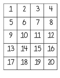 Number Chart 1 5 Numbers 1 20 Chart Worksheets Teaching Resources Tpt