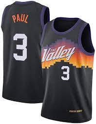 Herren Chris Paul 3# Trikots - Phoenix Suns 2020/21 Swingman Jersey City  Edition Basketball Top Weste Ärmelloses Basketball T-Shirt Gr. XL, blau :  Amazon.de: Sport & Freizeit