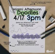 Miami Afternoon Doodles - Miami University Calendar
