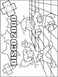 Kleurplaat Disco 2000 Dansen Kleurplatennl