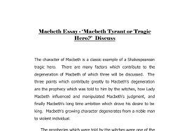 macbeth essay macbeth tyrant or tragic hero gcse document image preview