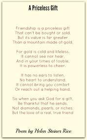 return to friendship poems