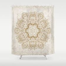 gold and cream shower curtain. shower curtain - gold and cream mandala 71\