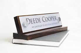 personalized desk name plate makes a great co worker gift