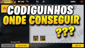 CODIGUINHOS - CÓDIGOS DE RESGATE NO FREE FIRE, COMO CONSEGUIR? -  FREEFIRENEWS