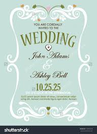 Wedding Invitation Card Design In Vector With Border Design For