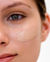 apply foundation with a brush so that you don t irritate your skin