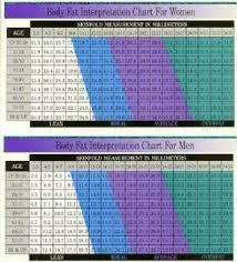 Body Fat Chart Women Bmi Body Fat Percentage Math Lesson