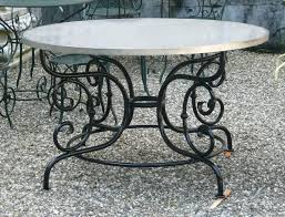 living decorative wrought iron dining table bases 18 round glass top cast furniture wrought iron dining