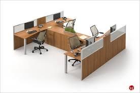 office desk cubicle. Milo Cluster Of 4 Person Cubicle Office Desk Workstation