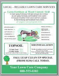 Sample Flyers For Landscaping Business New Lawn Care Business Flyer Template Added Lawn Care