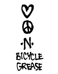 Love Peace And Bicycle Grease Bike Sticker Worlds Best Bike