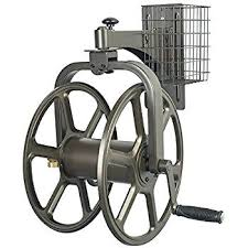 aluminum hose reel by liberty garden cast wall mount