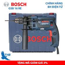 Mua Máy khoan Bosch, Máy khoan đa năng, Máy khoan tường, Máy khoan động lực  Bosch chính hãng GSB 16 RE cải tiến (Xuất xứ Malaysia, bảo hành điện tử 12  tháng,