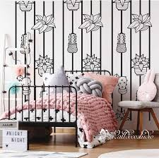 cactus stripe wall decal wall stripes