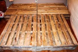 diy pallet board bed frame