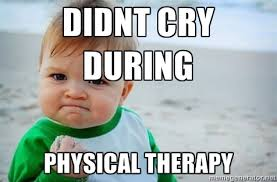 Didnt cry during Physical Therapy - fist pump baby | Meme Generator via Relatably.com