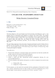 Engineering Design Brief Bridge Conceptual Design Task 10 Rul Civl444 Uow Studocu