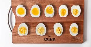 Soft Boiled Egg Chart Perfect Pressure Cooker Soft Medium Hard Boiled Eggs