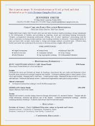 Sample Educator Resumes Family Day Care Educator Resume Sample Child Template Childcare