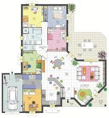Maison Familiale 4 Chambres Avec Bureau Terrasse Garage Et Plans De Maisons