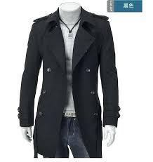 grey pea coat men whole grey badges pea coats for men trench coat slim double ted