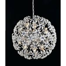 chandeliers sphere chandelier with crystals 24 crystal round chandelier pendant lamp light flower petal sphere