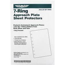 Jeppesen Chart Protectors Asa 7 Ring Sheet Protectors