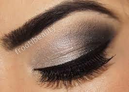 black silver eye makeup photo 2