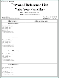 Professional Reference List Template Digitalhustle Co