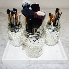 mason jar makeup brush holder. my new brush holders! i got these three mason jars from michaels and filled them jar makeup holder o
