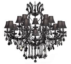 large size of living appealing black chandelier with crystals 13 amusing maria theresa trimmed chandeliers crystal