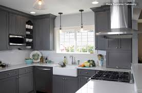 White And Gray Kitchen Gray Vs White Kitchen Cabinets Quicuacom