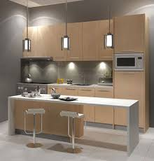 Perfect Galley Kitchen Design Layout With Small Table In Front Of The Kitchen  Cabinet. This Small Kitchen Design Suitable For Condominium In Malaysia. Gallery