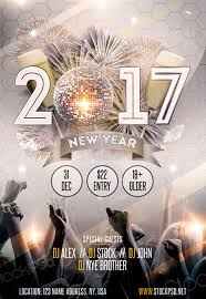 New Year Flyers Template New Year Gold Party Free Flyer Template Download For Photoshop